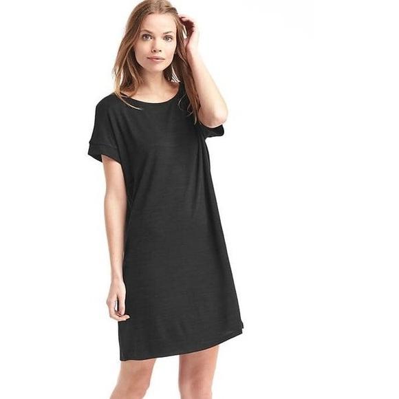 c0025c52b3761 GAP Dresses   Like New Black Softspun Knit Tshirt Dress M   Poshmark